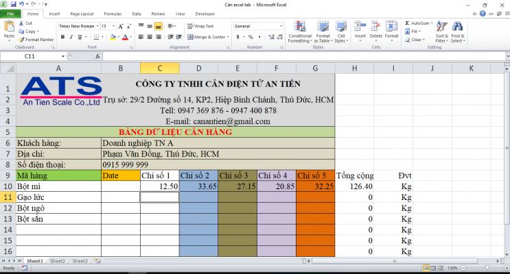 lưu số ký vào Excel